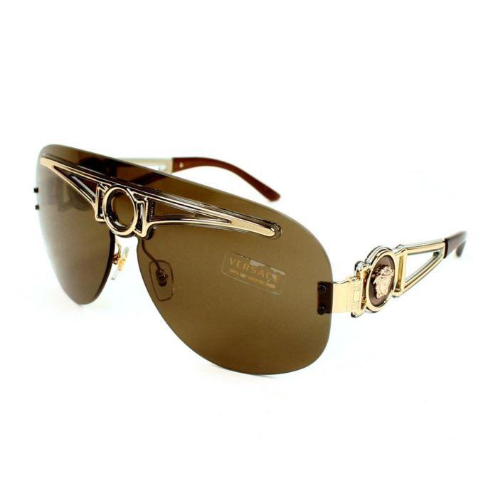 e897fe3fa37151 Versace - VE2131-125273 Or - Achat   Vente lunettes de soleil Mixte ...
