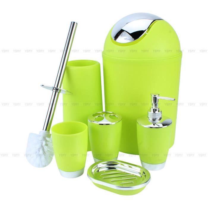 6pcs Set Accessoires Salle de Bain Pour Toilette(vert)--TQ - Achat ...