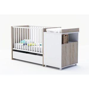 lit combine bebe achat vente lit combine bebe pas cher cdiscount. Black Bedroom Furniture Sets. Home Design Ideas