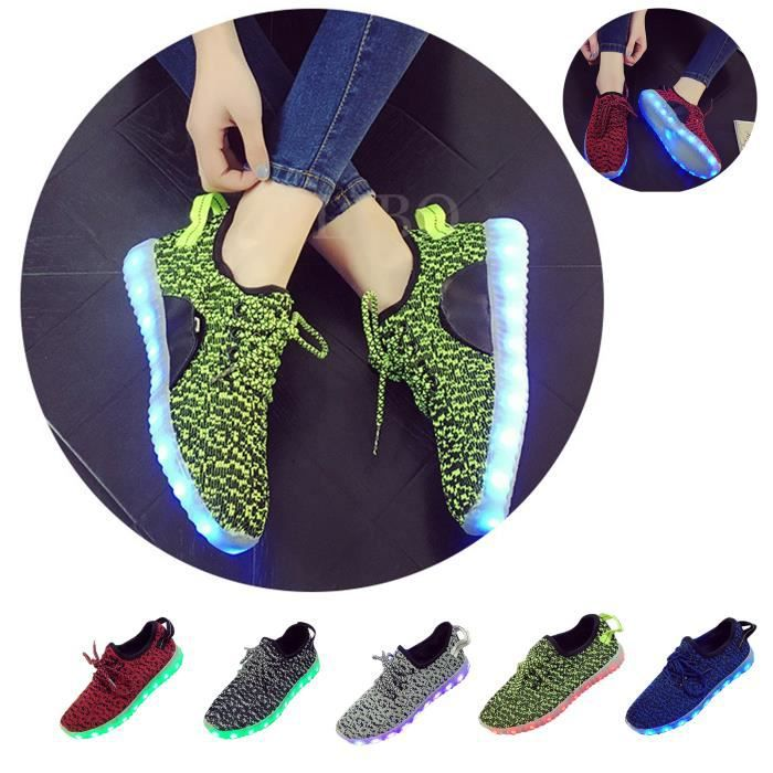 Homme-Femme Mode Chaussures LED Light Sneakers ...