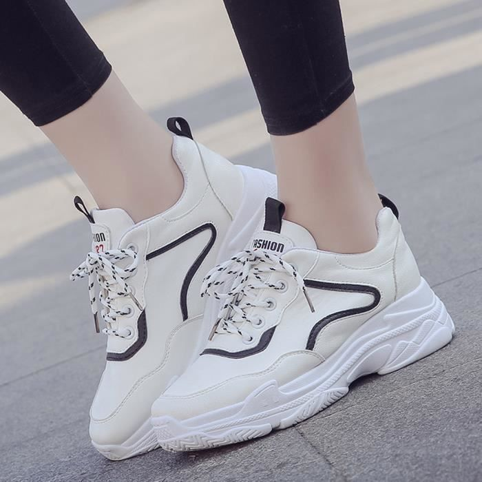 Jusqu'à Blanc Coins Rond Mocassins Casual Solide Bout Lace love8089 Mesdames Sneaker Femmes xvqRAYpx