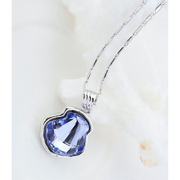 Womens Swarovski Crystal Pendant Necklace. Daily-party Wear Fashion Jewellery. HPEQG