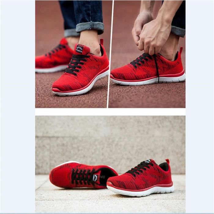 Plus Luxe l'usure Chaussure 39 De Hommes rouge Chaussures à course résistantes Confortable de Marque 39 Taille Basket 44 Pour Homme Pvqq6t