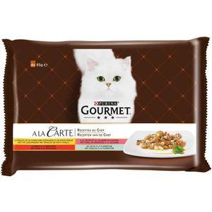 GOURMET Pâtée Pour Chat A La Carte Poulet 4x85g