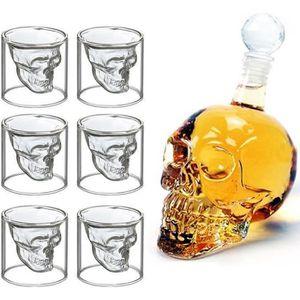 Verre à eau - Soda Verres à Whisky Design Tete de Mort 700ML en Verre