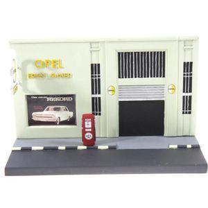 VOITURE - CAMION Diorama garage opel Ernst Maier pour voiture minia
