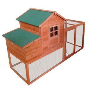 POULAILLER Poulailler Extérieur avec nichoir toit pliant en b