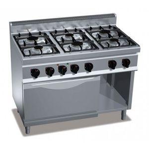 Gaziniere Feux Four Gaz Achat Vente Gaziniere Feux Four - Grande gaziniere 6 feux pour idees de deco de cuisine