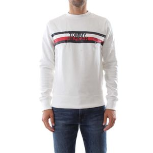 Tommy Hilfiger Mw0mw09067 Tommy Logo Sweat Shirt Homme Bright White
