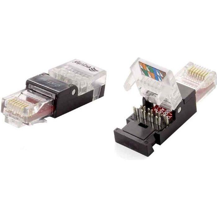 connecteur rj45 utp sans outil cat 6 prix pas cher cdiscount. Black Bedroom Furniture Sets. Home Design Ideas