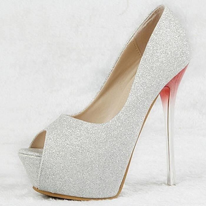 la plate-forme des femmes sandales compensées h...