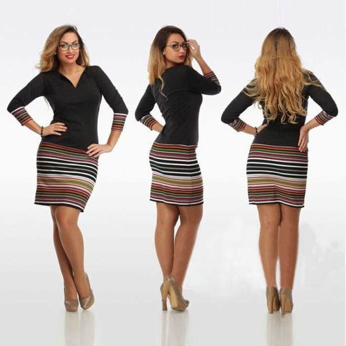 Col Robe Moulant Automne Hiver V Longue Pull Femme Sexy Manche IvIwr