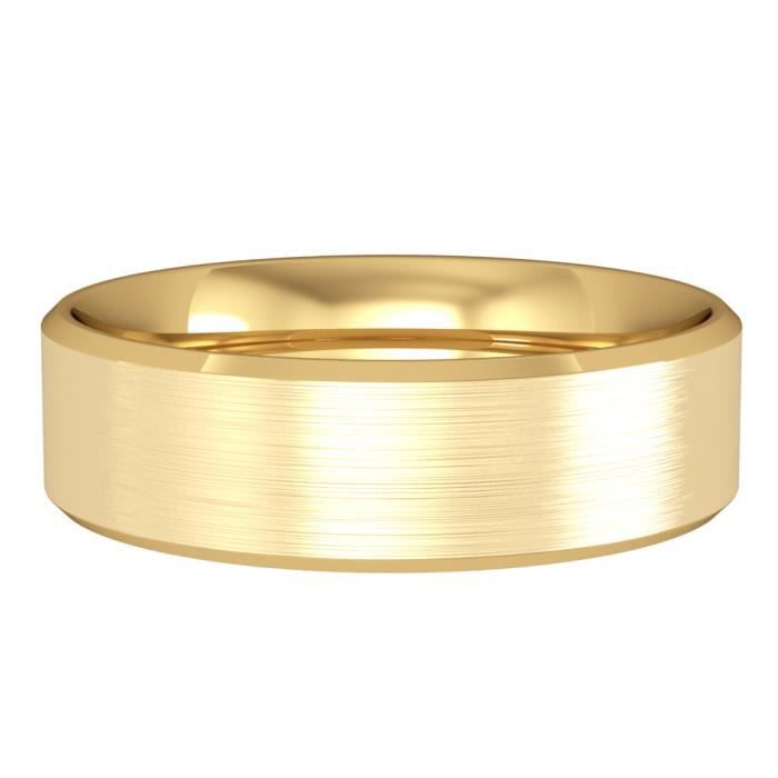 Jewelco London Or Jaune 18k mariage bague 6mm