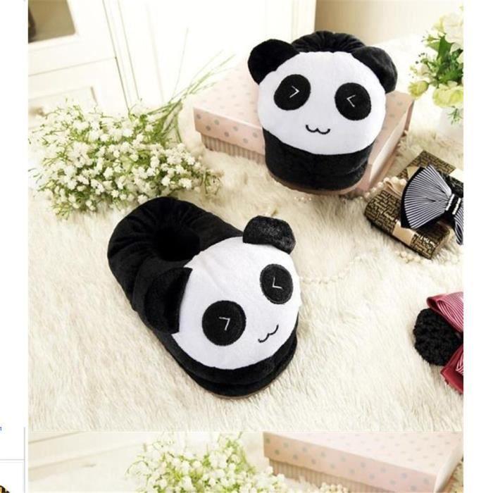 Panda Loisirs Chausson charmant simple doux Couple Chaussons Plus De Coton Série à domicile Chaussure Chaud Confortable Taille 35-44