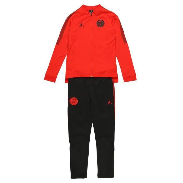 design de qualité b5d1f 26f76 NIKE Survêtement d'entrainement PSG X Jordan - Rouge et noir ...