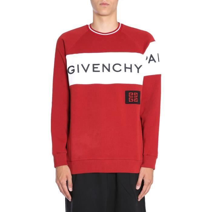 Sweatshirt Givenchy Rouge Coton Homme Bm708t3003601 nvIvT6PB