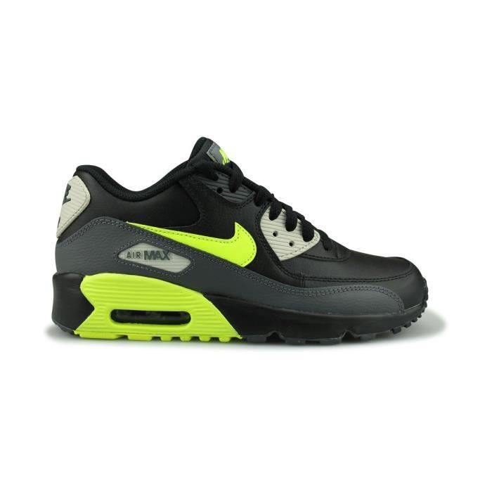 Nike 90 Achat Junior 38 Max Leather Taille Noir Air I6mY7gbyvf
