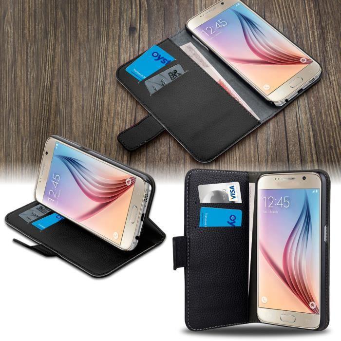 HOUSSE - ÉTUI SAVFY® Coque Housse Portefeuille Samsung Galaxy S7