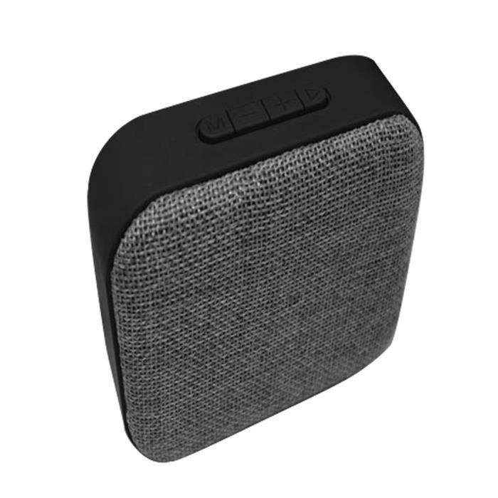 T3 En Tissu Bluetooth Haut-parleur Mini Carte Sans Fil Charge Usb Audio Portable Gris