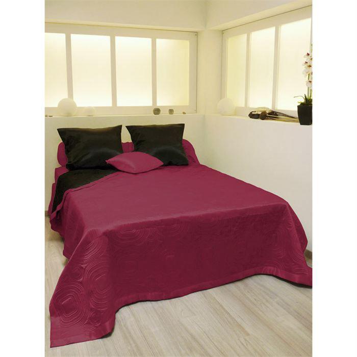 couvre lit matelassé moderne Couvre lit matelassé double face SATIN   Achat / Vente jetée de  couvre lit matelassé moderne