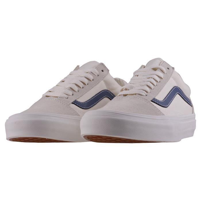 Vans Old Skool Vintage Femmes Baskets Bleu Blanc - 5 UK