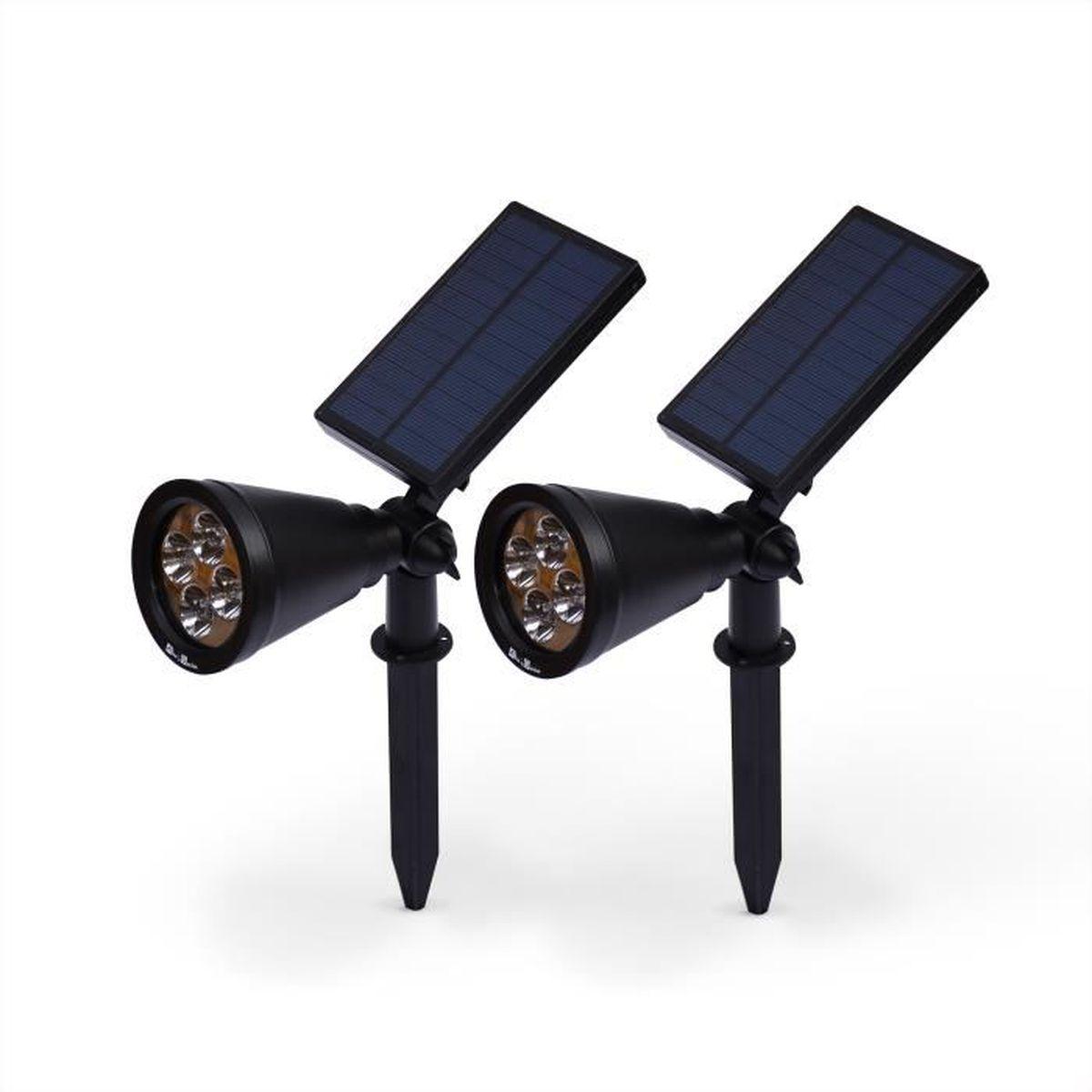 spot led solaire exterieur achat vente spot led solaire exterieur pas cher cdiscount. Black Bedroom Furniture Sets. Home Design Ideas