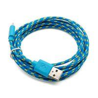 CÂBLE TÉLÉPHONE Micro USB corde câble de données tressé 3 m bleu #