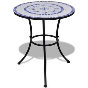 YAJIASHENG Table mosa?que 60 cm Bleu/blanc