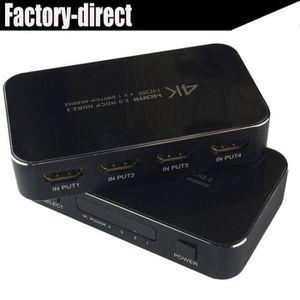 CÂBLE TV - VIDÉO - SON Uhd Hdmi 2.0 Commutateur 4 K Switcher En 1 Sur 384