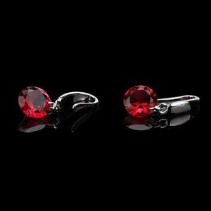 Boucle d'oreille Mode élégante 925 Sterling Silver femmes cristal s