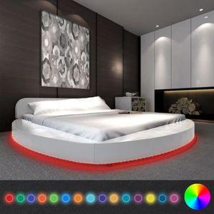 LIT COMPLET Lits et cadres de lit  Cadre de lit avec LED 180 x