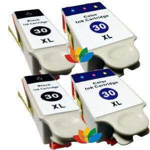 CARTOUCHE IMPRIMANTE 4 Pack Compatible Kodak 30 30XL Cartouche d'encre
