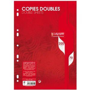 FEUILLET MOBILE Copie double blanche A4 - sachet de 50