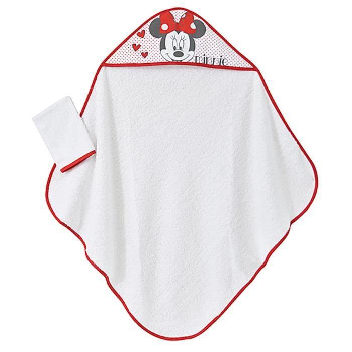 MINNIE Cape de bain Disney Baby - Rouge et blanc