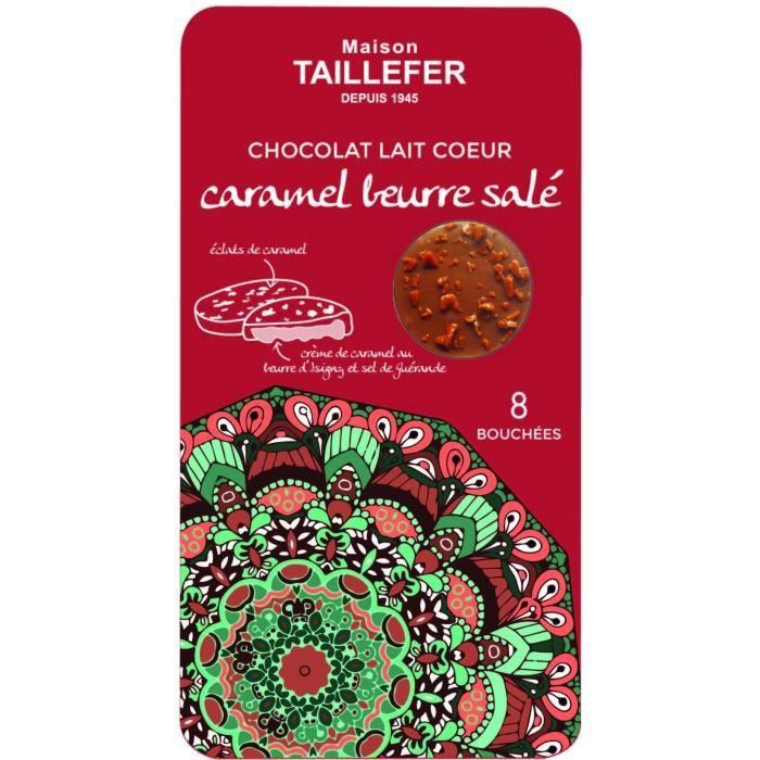 MAISON TAILLEFER Chocolat au Lait Pur Beurre de Cacao Fourrage au Caramel au Beurre Salé 75g - Lot x6