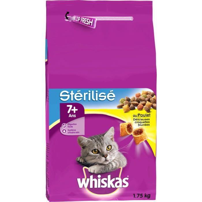 WHISKAS Croquette pour chat au polet - 1,75 kg