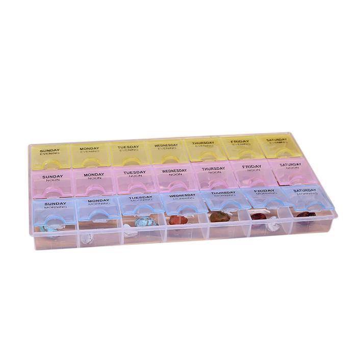 BOITE DE RANGEMENT 7 Tablet Pill Box Day Medicine Dispenser Organisat