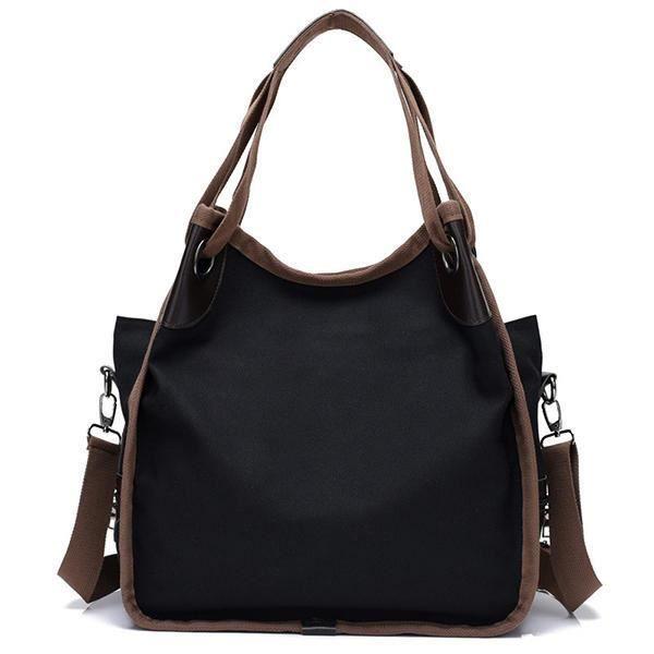SBBKO2867WomenQualityToileSacàbandoulière à grande capacité Sac à bandoulière Crossbody Bag Noir