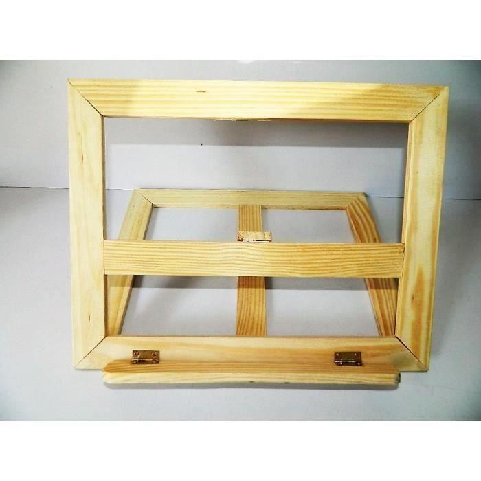 support bois lutrin chevalet table bois livre cuisine informatique 31 5x25cm achat vente. Black Bedroom Furniture Sets. Home Design Ideas
