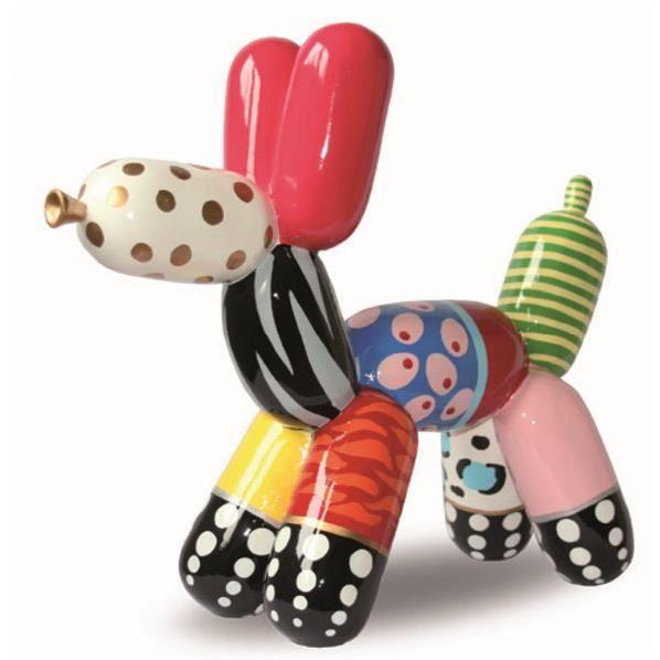 statue de chien ballon en r sine hauteur 18 centim tres. Black Bedroom Furniture Sets. Home Design Ideas
