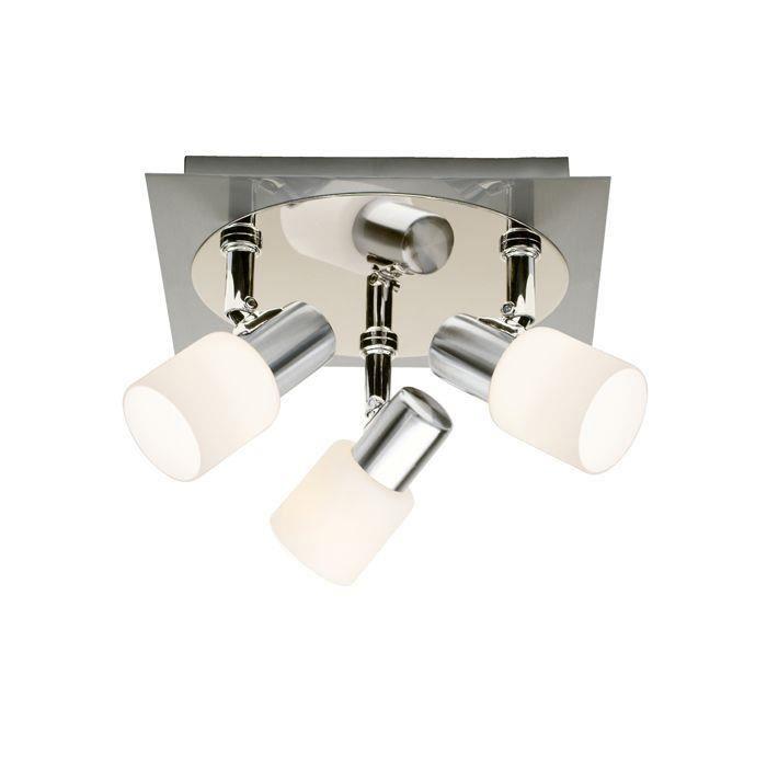 Plafonnier 3 lumières OCA -3x40W E14 -ACIER/CHROME - BRILLIANT - 39434_77