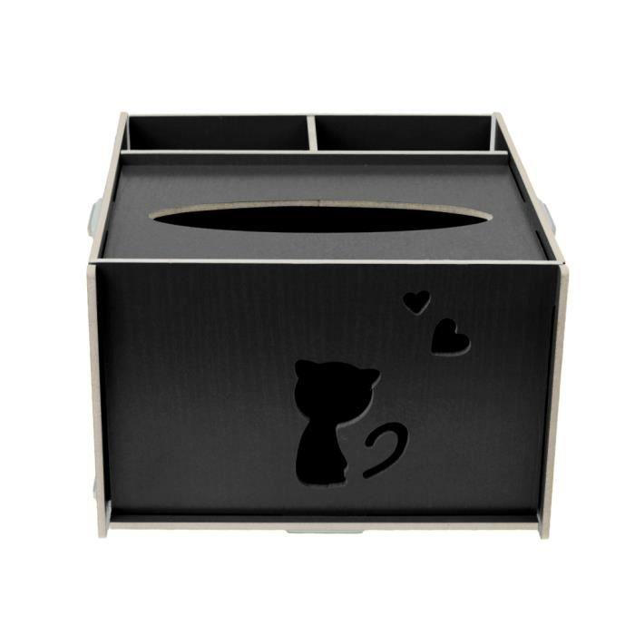 bo te de rangement en bois pour bureau maison bo te de rangement bo te mouchoirs support. Black Bedroom Furniture Sets. Home Design Ideas