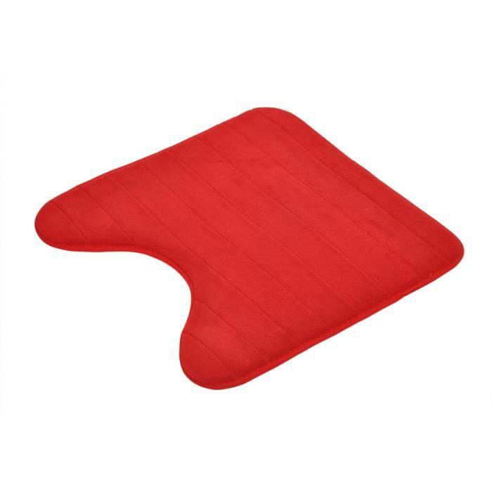 tapis contour wc rouge achat vente pas cher. Black Bedroom Furniture Sets. Home Design Ideas