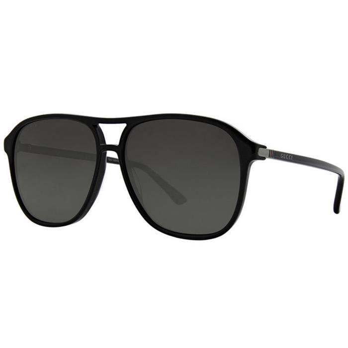 GUCCI GG0016S Noir - Achat   Vente lunettes de soleil Homme Noir ... ed6399f949b0
