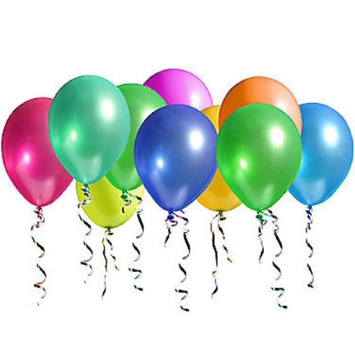 100 pcs wedding party anniversaire d cor latex ballons d coration 25cmmulticolor achat vente. Black Bedroom Furniture Sets. Home Design Ideas