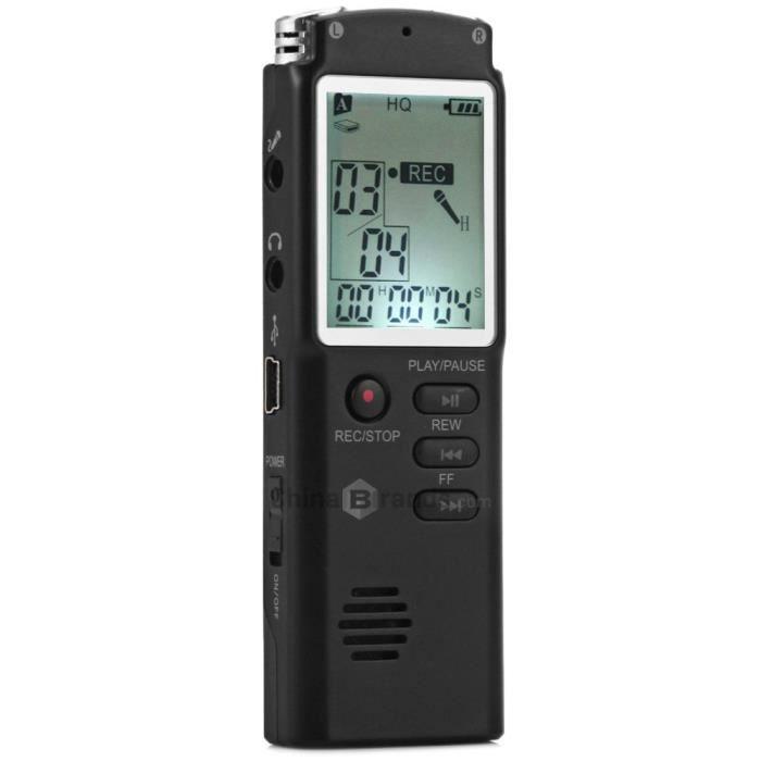 2 En 1 T60 Professionnel 8go Temps Affichage Enregistrement Vocal Numérique / Audio Recorder Dictaphone Mp3 Player Grabadora De Voz