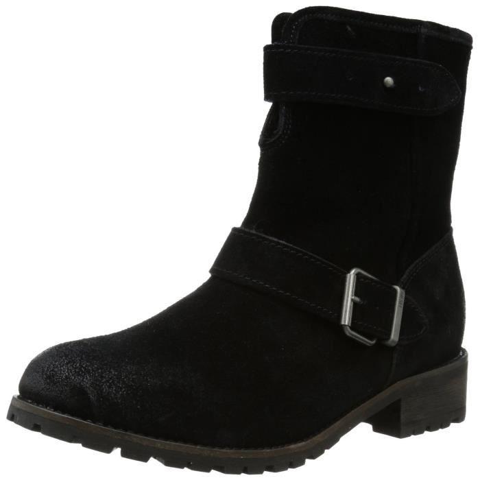 DIESEL boots motardes fourrées en cuir femme EAGLES noir GvOt3f