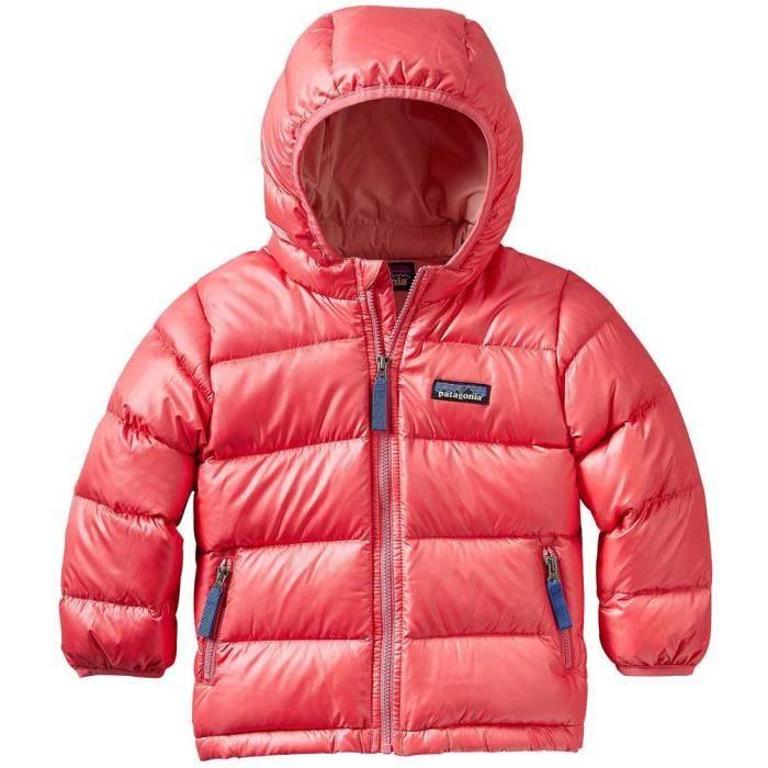5bb5f4e9f2b Vêtements enfant Doudounes Patagonia Hi Loft Down Hoody Rose Rose ...