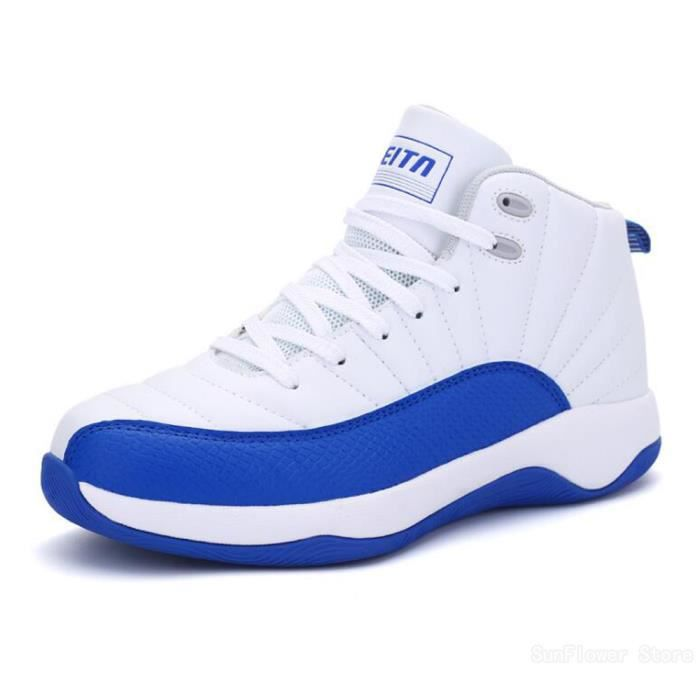 Chaussures De Basket Running-Top Basket Homme Chaussures de BasketBall Chaussures de sport - Blanc-rouge lx5iAy7