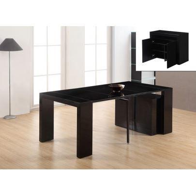 console a rallonge cheap attrayant table de sejour extensible table console extensible buffet avec table - Buffet Avec Table Retractable